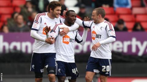 Bolton Wanderers players celebrate