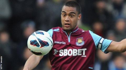 West Ham central defender Winston Reid