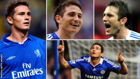 Frank Lampard from across the years