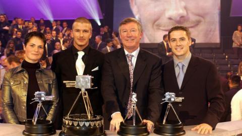 Ellen McArthur, David Beckham, Sir Alex Ferguson and Michael Owen
