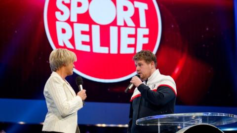 Sue Barker and Smithy