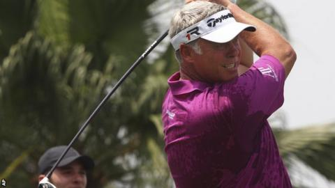 Darren Clarke at the Indonesian Masters