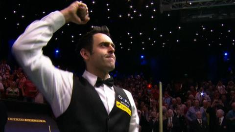 Ronnie O'Sullivan celebrates fifth world title