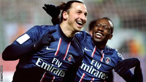 Zlatan Ibrahimovic and Blaise Matuidi