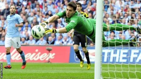 Manchester City goalkeeper Costel Pantilimon