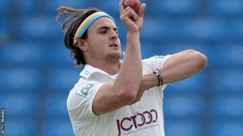 Yorkshire pace bowler Jack Brook