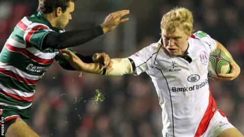 Nevin Spence (right) in action for Ulster