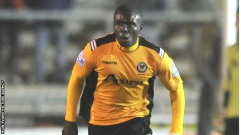 Ismail Yakubu in action for Newport County