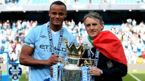 Vincent Kompany, Roberto Mancini, Manchester City