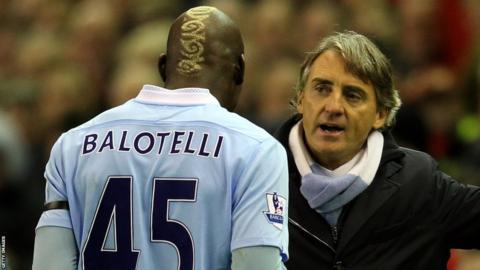 Mario Balotelli, Roberto Mancini, Manchester City