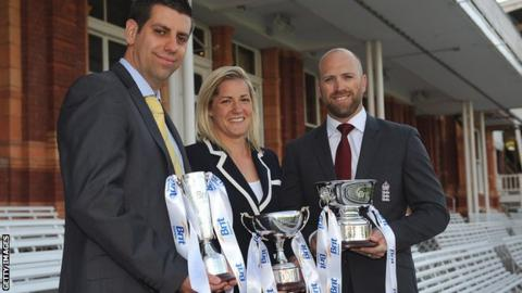 Matthew Dean, Katherine Brunt and Matt Prior