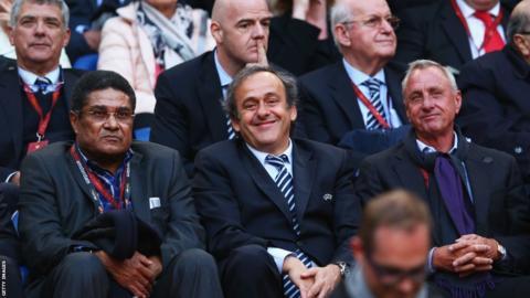 Michel Platini; Johan Cruyff; Eusebio