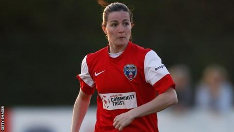 Spanish striker Natalia