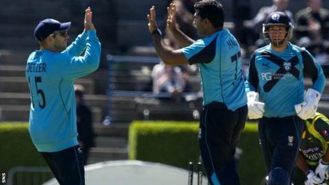 Majid Haq celebrates