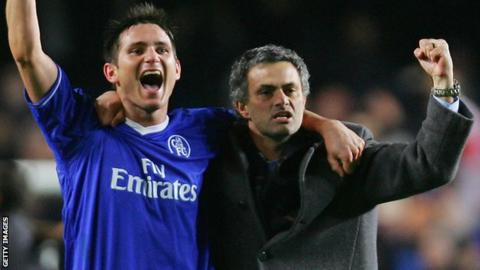 Frank Lampard & Jose Mourinho in 2005
