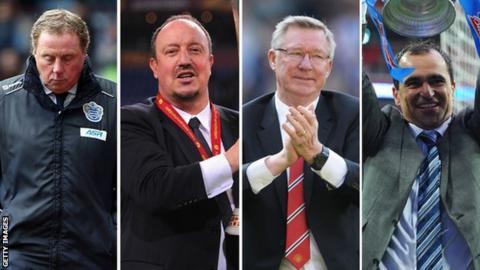 Harry Redknapp, Rafa Benitez, Sir Alex Ferguson, Roberto Martinez