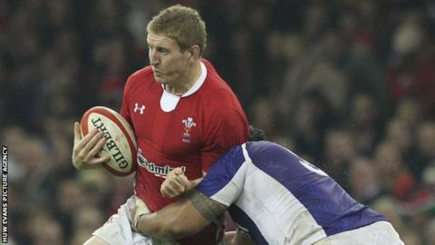 Bradley Davies in action for Wales against Samoa in 2012