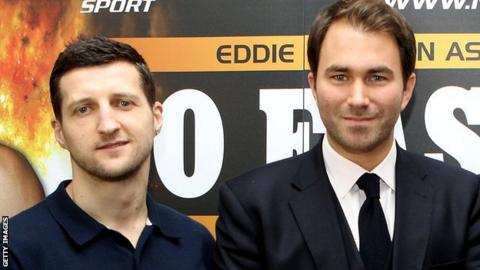 Carl Froch (left) and Eddie Hearn