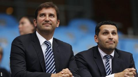 Ferran Soriano (l) and Khaldoon Al Mubarak