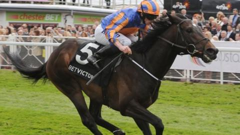 Magician winning the Dee Stakes at Chester