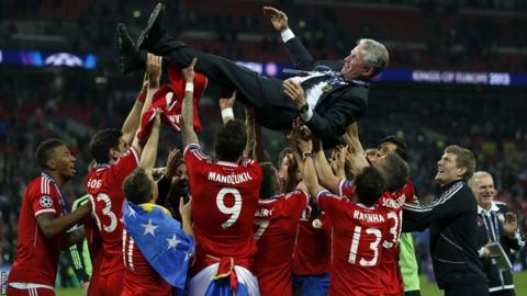 Bayern Munich head coach Jupp Heynckes