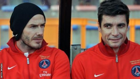 David Beckham and Ronan Le Crom