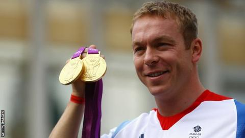 Sir Chris Hoy won two gold medals at last year's Olympics