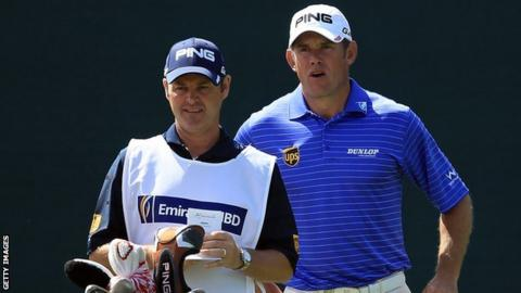 Billy Foster and Lee Westwood