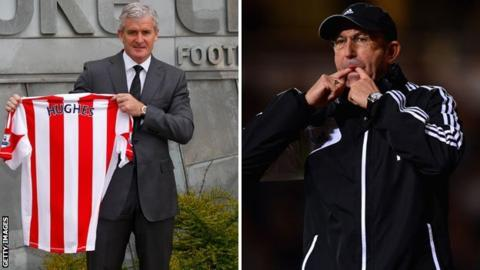 Mark Hughes (left) and Tony Pulis