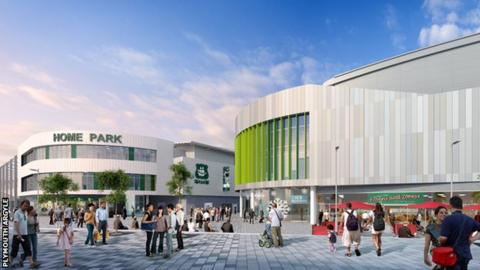 Plans for the new development at Home Park