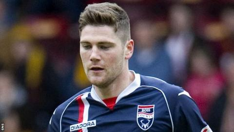 Ross County midfielder Iain Vigurs