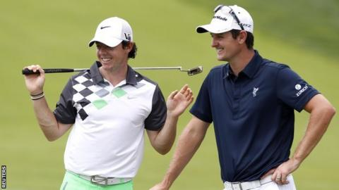 Rory McIlroy (left) and Justin Rose
