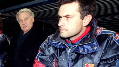 Bobby Robson and Jose Mourinho