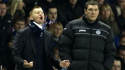 Steve Lomas and Tommy Wright (right) achieved success for St Johnstone