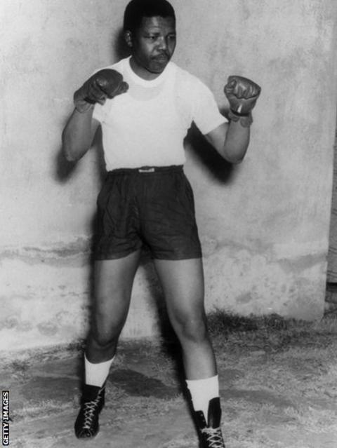 Nelson Mandela boxer