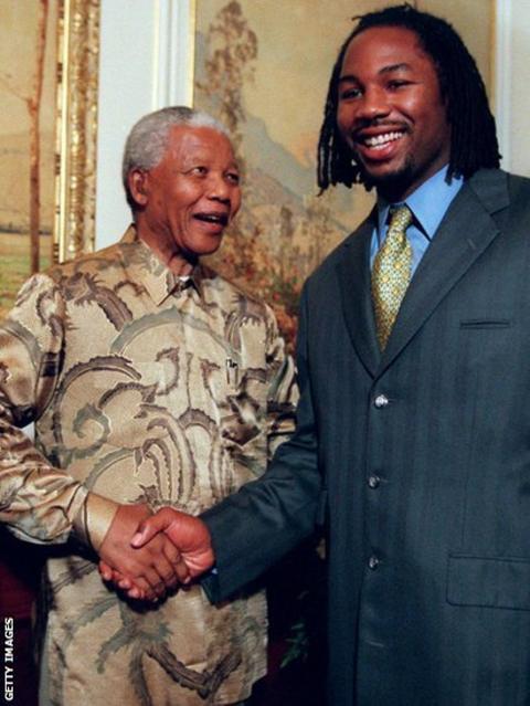 Nelson Mandela and Lennox Lewis