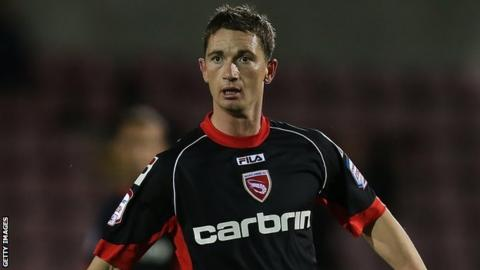 Gary McDonald in action for Morecambe