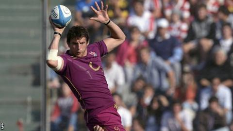 Tom Wood in action in the first Test against Argentina
