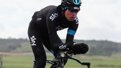Cyclist Chris Froome