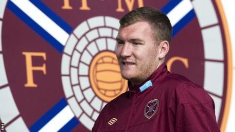 Former Hearts striker Kevin Kyle