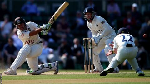 Ricky Ponting scores a century for Surrey