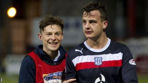 Dundee's Nicky Riley and Kyle Benedictus