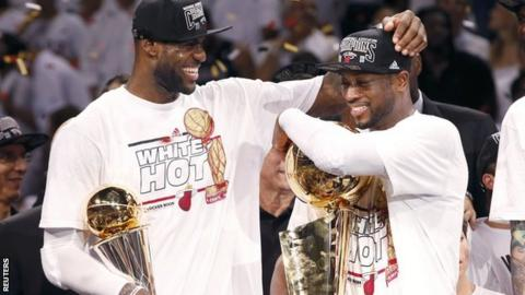 LeBron James and Dwayne Wade