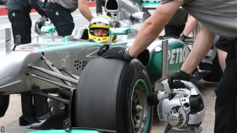 Mercedes tyre change