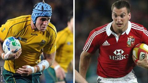 Australia captain James Horwill and Lions counterpart Sam Warburton
