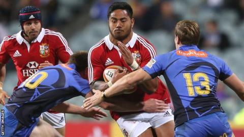Manu Tuilagi in action against the Western Force