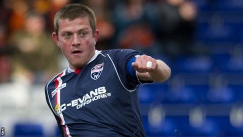 Ross County midfielder Richard Brittain