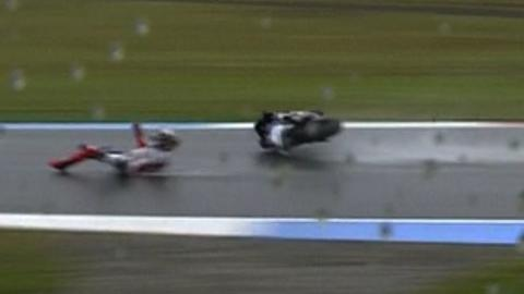 World champion Jorge Lorenzo falls at Assen