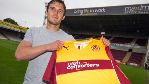 John Sutton with Motherwell shirt