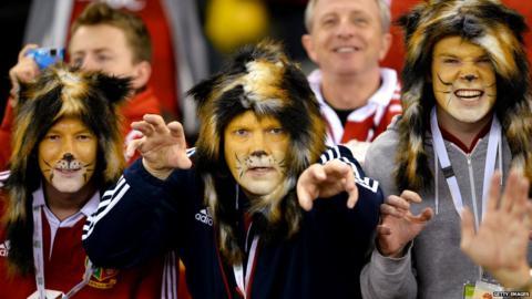 Australia v British Lions second Test Lions fans